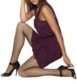 Hanes Silk Reflection Tulle Net Sheer to Waist Tights 0B268