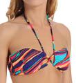 Roxy Brazilian Chic Criss Cross Bandeau Swim Top 300129