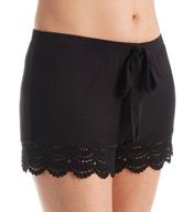Betsey Johnson Intimates Knit and Lace Boho Boyfriend Short 7301155