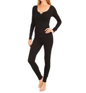 Josie by Natori Sleepwear Ribbed Pajama Pant Set Z96061