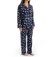 KayAnna Blue Ditsy Flannel Pajama Set BD15175
