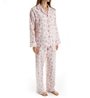 KayAnna Pink Ditsy Flannel Pajama Set PD15175