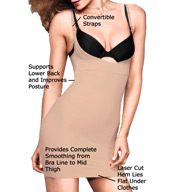 Maidenform Take Inches Off Wear Your Own Bra Slip 2541