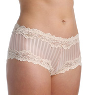 Whimsy by Lunaire Barbados Mesh Boyshort Panty With Lace Trim 15233